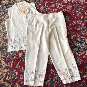 Tommy Bahama set beautiful silk size large 12 14